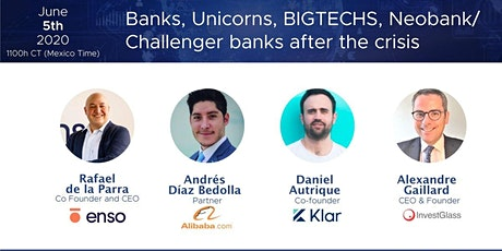 Unicorns, Banks, Neobanks & Challenger banks after the crisis tickets