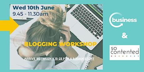 Blogging Workshop tickets