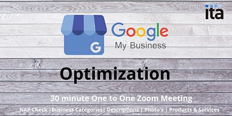 Google My Business  Optimizing your Business Listing in a One-2-One session tickets
