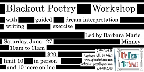 Blackout Poetry Workshop led by Barbara Minney- Virtual & In-Person Event tickets