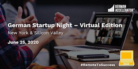 German Startup Night - Virtual Edition tickets