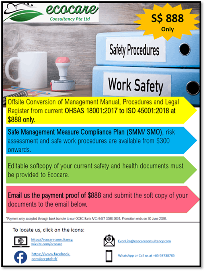 Off Site Conversion  of OHSAS 18001 to ISO 45001 image