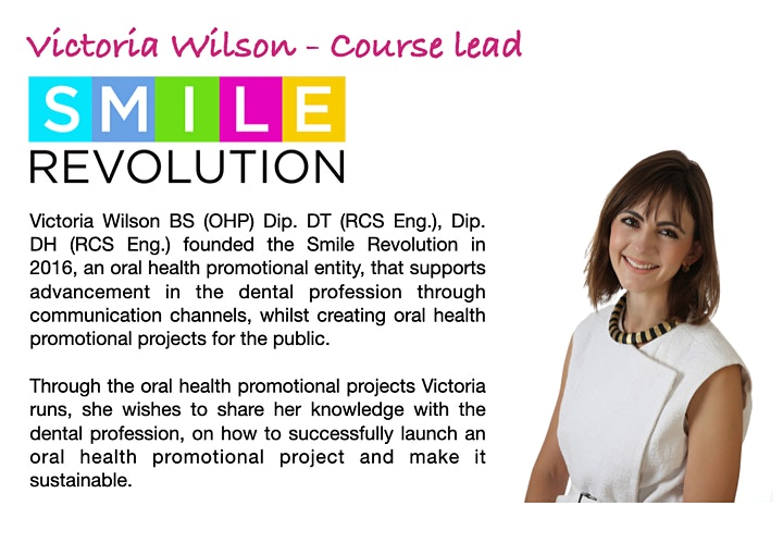 How to launch an oral health promotion project / business - 5 week course image