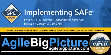 REMOTE LEARNING EDT - Implementing SAFe with SPC Certification tickets