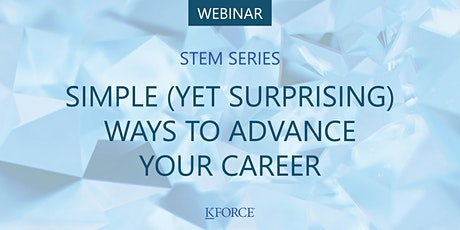 STEM Series: Simple (yet surprising) ways to advance your career tickets