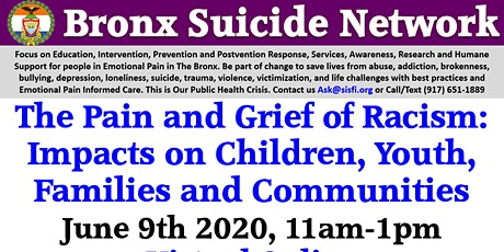Bronx Suicide Network, Suicide Safe Sites and Zero Bronx Suicide Initiative tickets