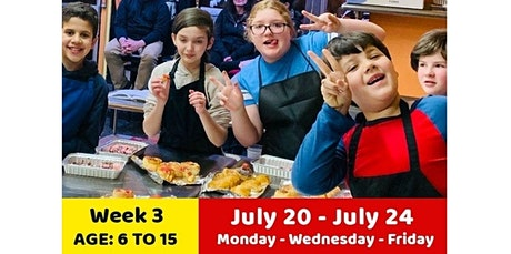 July Week3:   Summer Online Cooking Camp (07-20-2020 starts at 3:00 PM) tickets