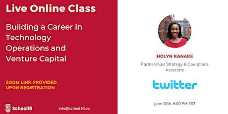 School16 Class:Holyn Kanake, Strategy & Operations Associate at Twitter tickets