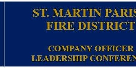 St. Martin Parish Fire District Company Officer Conference tickets