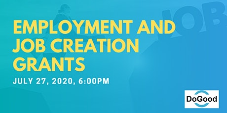 Employment and Job Creation Grants tickets
