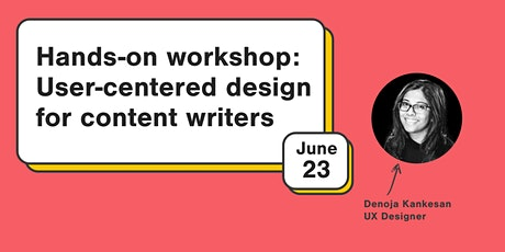 Hands-on workshop: User-centered design for content writers tickets