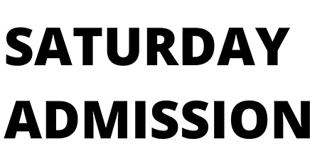 Saturday Admission tickets