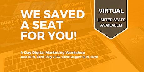VIRTUAL Digital Marketing Workshop - August 2020 tickets