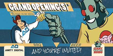 Free Beer and BBQ Grand Opening tickets