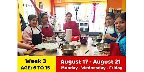 August week 3: Summer Online Cooking Camp (08-17-2020 starts at 3:00 PM) tickets