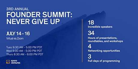 Founder Summit 2020: Never Give Up tickets