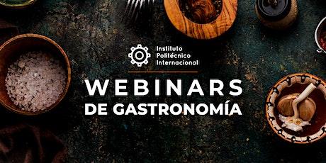 Webinars de Gastronomía boletos
