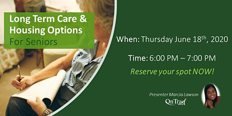Long-Term Care and Senior Housing Options tickets