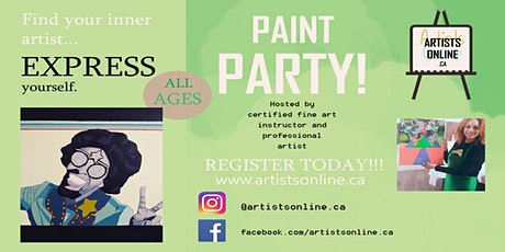 TORONTOS OWN Virtual Paint Party!! tickets