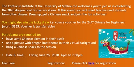 Dragon Boat Festival Celebration (via Zoom) tickets
