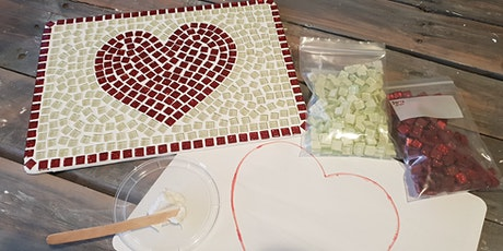 Kids Mosaic loveheart placemat Workshop. tickets