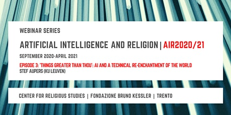Artificial Intelligence and Religion – AIR2020/21,  third episode tickets