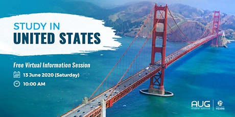 AUG GOES LIVE | Study in USA Virtual Session tickets