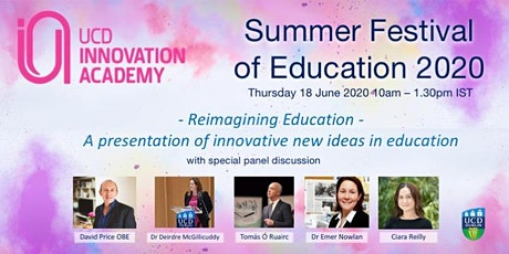 Summer Festival of Education with UCD Innovation Academy Online tickets