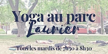 Yoga au Parc Laurier tickets