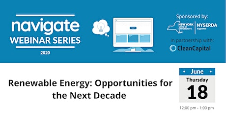 Webinar Renewable Energy: Opportunities for the Next Decade tickets