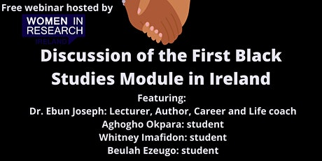 Discussion of the First Black Studies Module in Ireland tickets