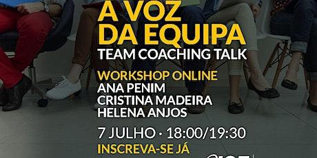 Team Coaching Talks online bilhetes