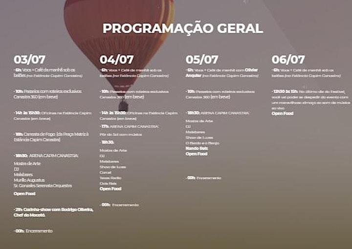 Imagem do evento 4º Festival de Balão da Serra da Canastra