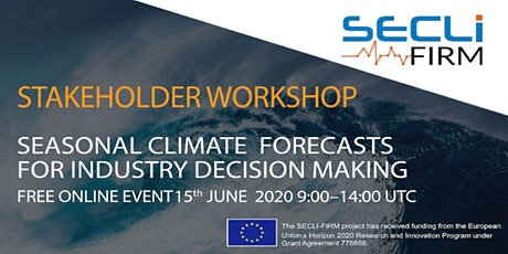 Free Workshop: Seasonal Climate Forecasts for Industry Decision Making biglietti