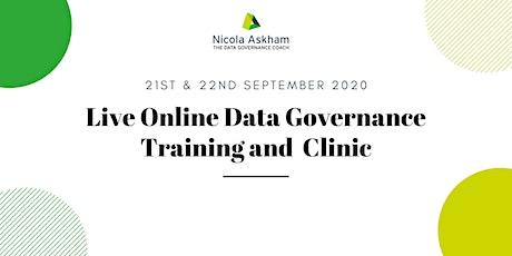 Live Online Getting Started in Data Governance - September 2020 tickets