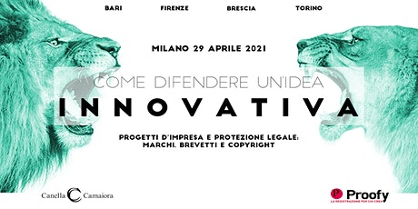 Come difendere un'idea innovativa® Tour 2020/2021 – Milano tickets