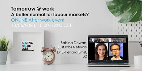 Tomorrow @ work: A better normal for labour markets? tickets