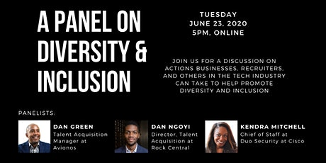 Startup Detroit Virtual Happy Hour - Diversity and Inclusion Panel tickets