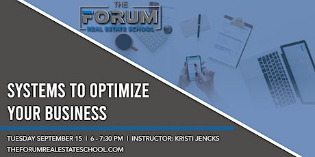 Systems to Optimize Your Business tickets
