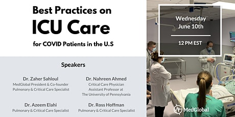 Best Practices in ICU care for COVID Patients in the US tickets