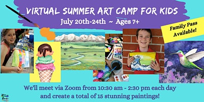 Summer Art Camp with Virtual Instruction by Brush & Cork, JULY 20-24