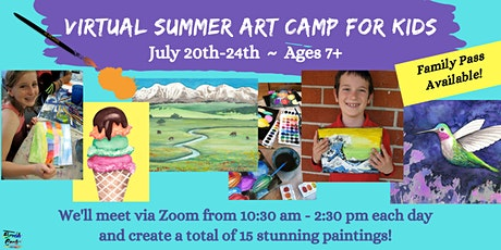 Summer Art Camp with Virtual Instruction by Brush & Cork, JULY 20-24 tickets