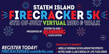 Staten Island Firecracker 5K - 4th of July Virtual Run & Walk tickets