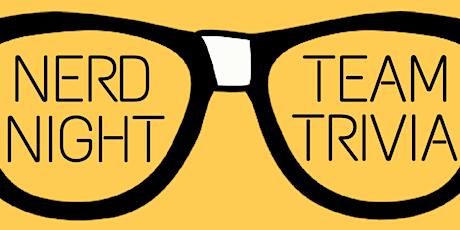 """Virtual Trivia Round #12: """"Nerd Trivia"""" tickets"""