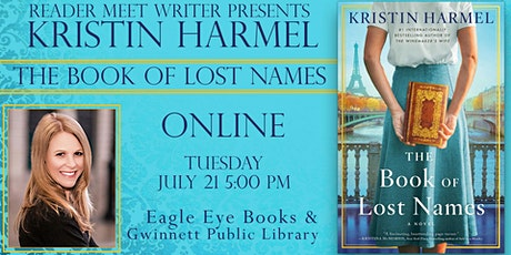 Kristen Harmel  author talk for The Book Of Lost Names tickets