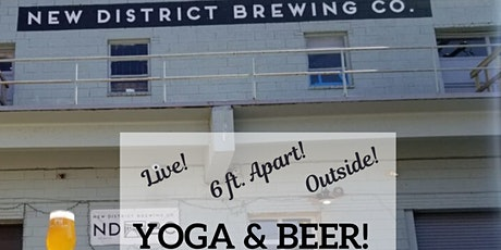 LIVE! Yoga & Beer at New District! tickets