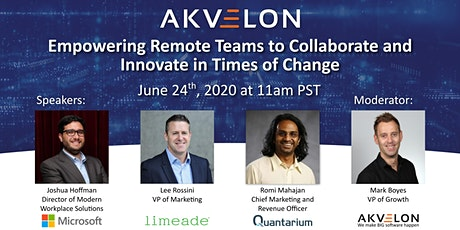 Empowering Remote Teams to Collaborate and Innovate in Times of Change tickets