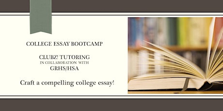 Rising Seniors: College Essay Boot Camp with Pam Lobley(Session 4) tickets