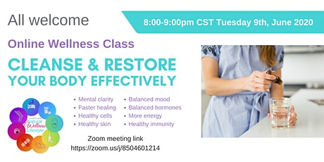 Cleanse & Restore  Your Body effectively tickets