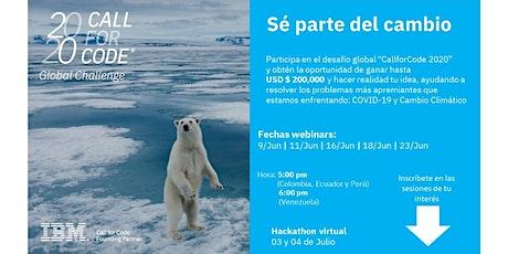 Webinar Acción empresarial Call for Code 2020 tickets